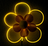 Glowing flower made from EL Wire
