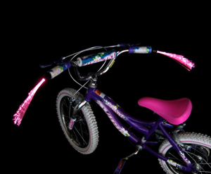 Make your bike stand out with these pink streamers